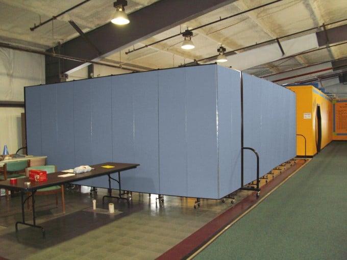 Room Divider creates an entryway into a gymnasium