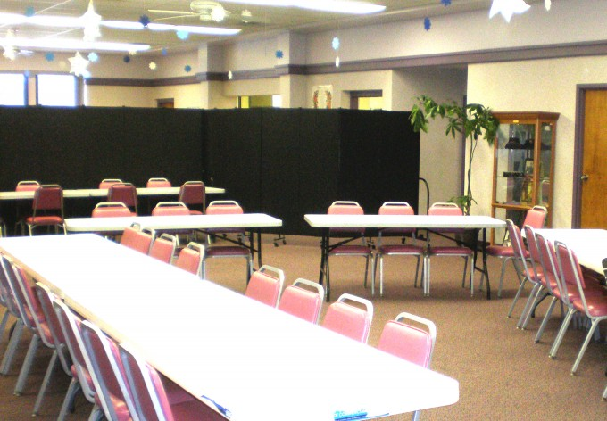 Salvation Army Uses Room Dividers Create a Temporary Meeting Room