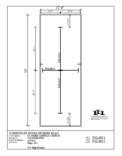 St. James Catholic Church room divider layout