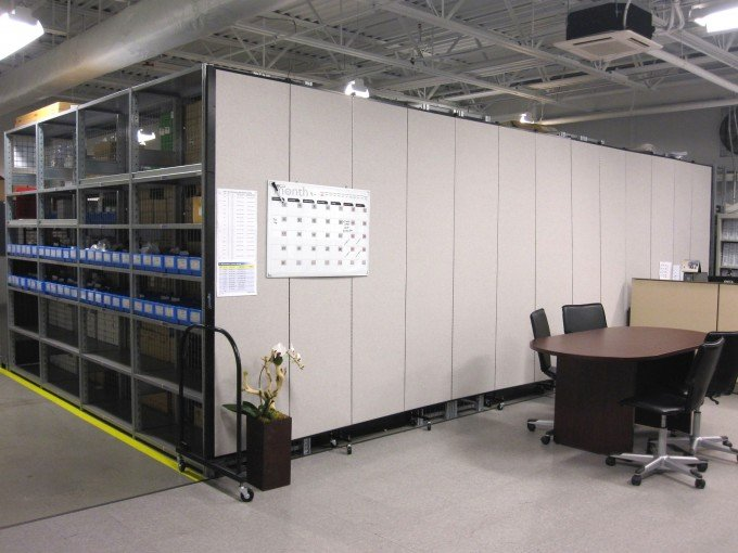 Commercial room divider provides privacy and absorbs sound