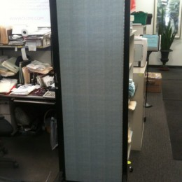 Closed Freestanding Room Partitions in an Office