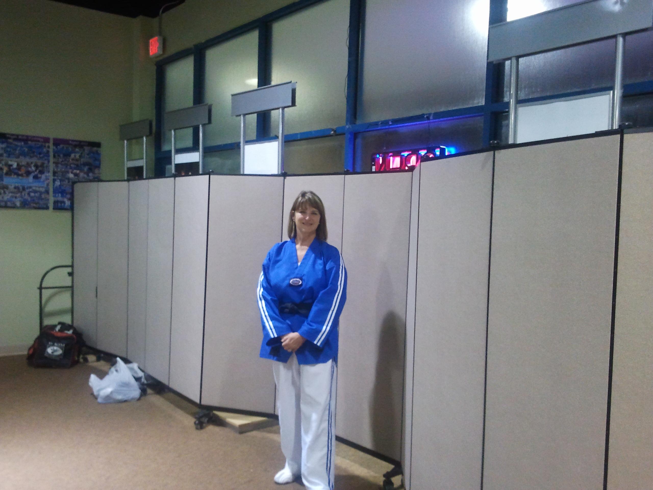 Divdiers in a taekwondo class