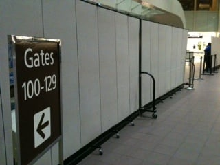 Airport crowd control Dividers