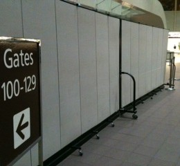 Airport temporary walls