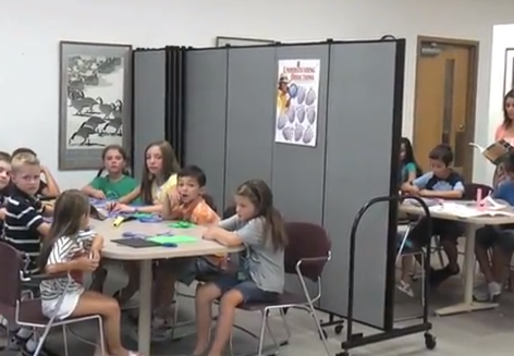 One Classroom Divided by Screenflex Room Dividers