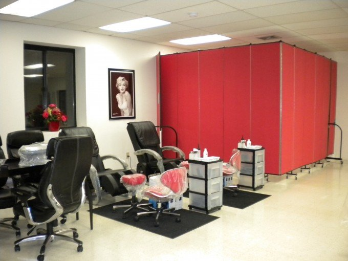 pretty nails makes a massage room with room dividers