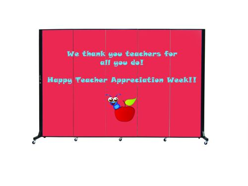 Teach appreciation week sign