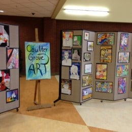Art Display Boards and Display Dividers for the Coulter Grove Student Art Gallery