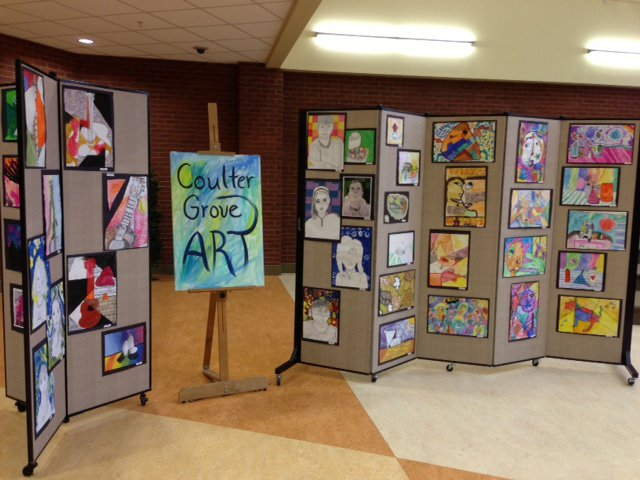 Art Display Screens Showcase Student 39 S Talents Screenflex