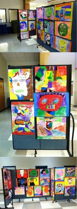 Children Picasso Artwork On Display