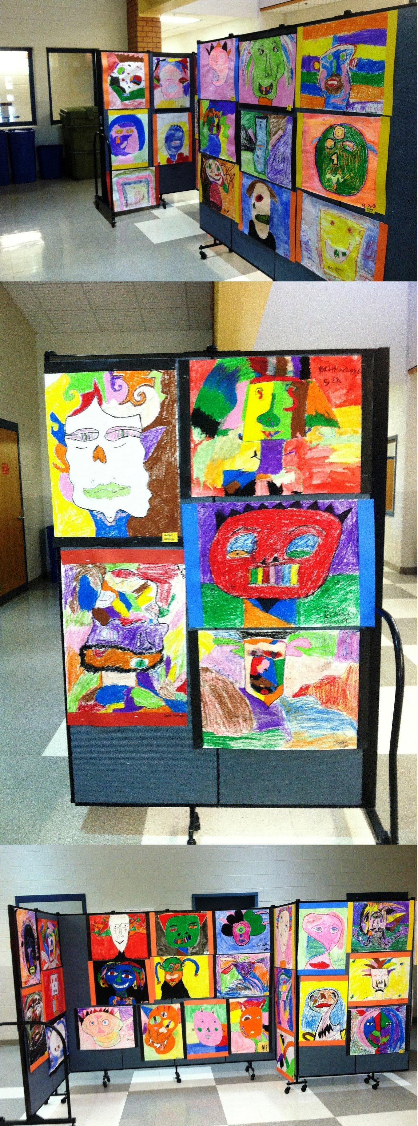 Children Picasso Artwork On Display