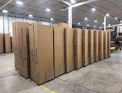 Packaging and Shipping Screenflex Dividers