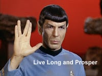 live long and prosper from StarTrek