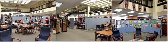 Temporary walls create collaborative learning spaces in libraries
