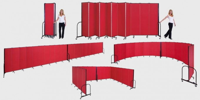 Create any size room with portable room dividers