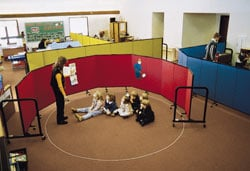 colorful preschool classroom
