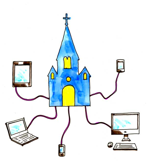 Church social media clipart