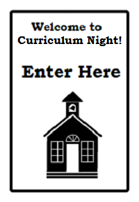 School Open house/curriculum Night directional sign