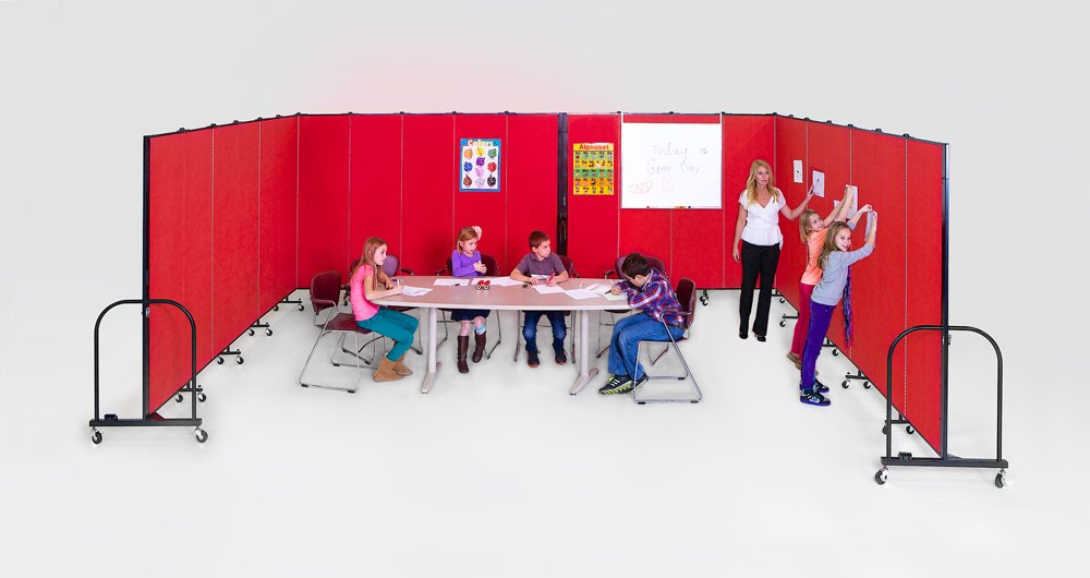 Odd shaped classrooms created with Screenflex Portable Walls