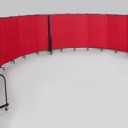 Curved Wall Portable Room Dividers