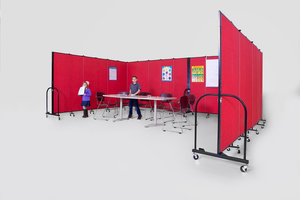 Room divider creating an instant classroom