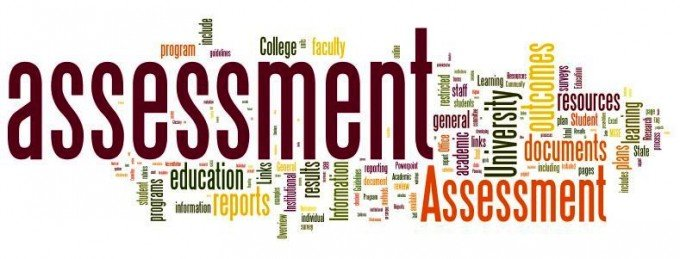 A wordle of terms used for teacher assessment
