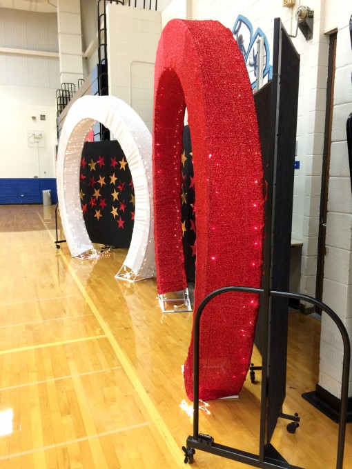 Temporary walls uses for school dance photo backdrop