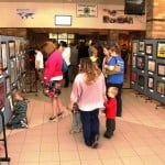Art exhibit using Screenflex Art Displays