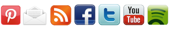 7 social media badges in a row
