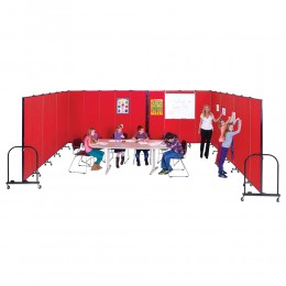 "Instant Classrooms in ""U"" Shape with Tackable Walls"