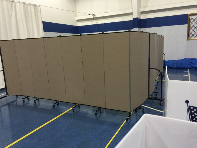 private area for polling place workers