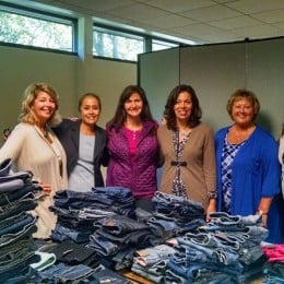 volunteers for the Society of St Vincent DePaul Clean Jeans Drive
