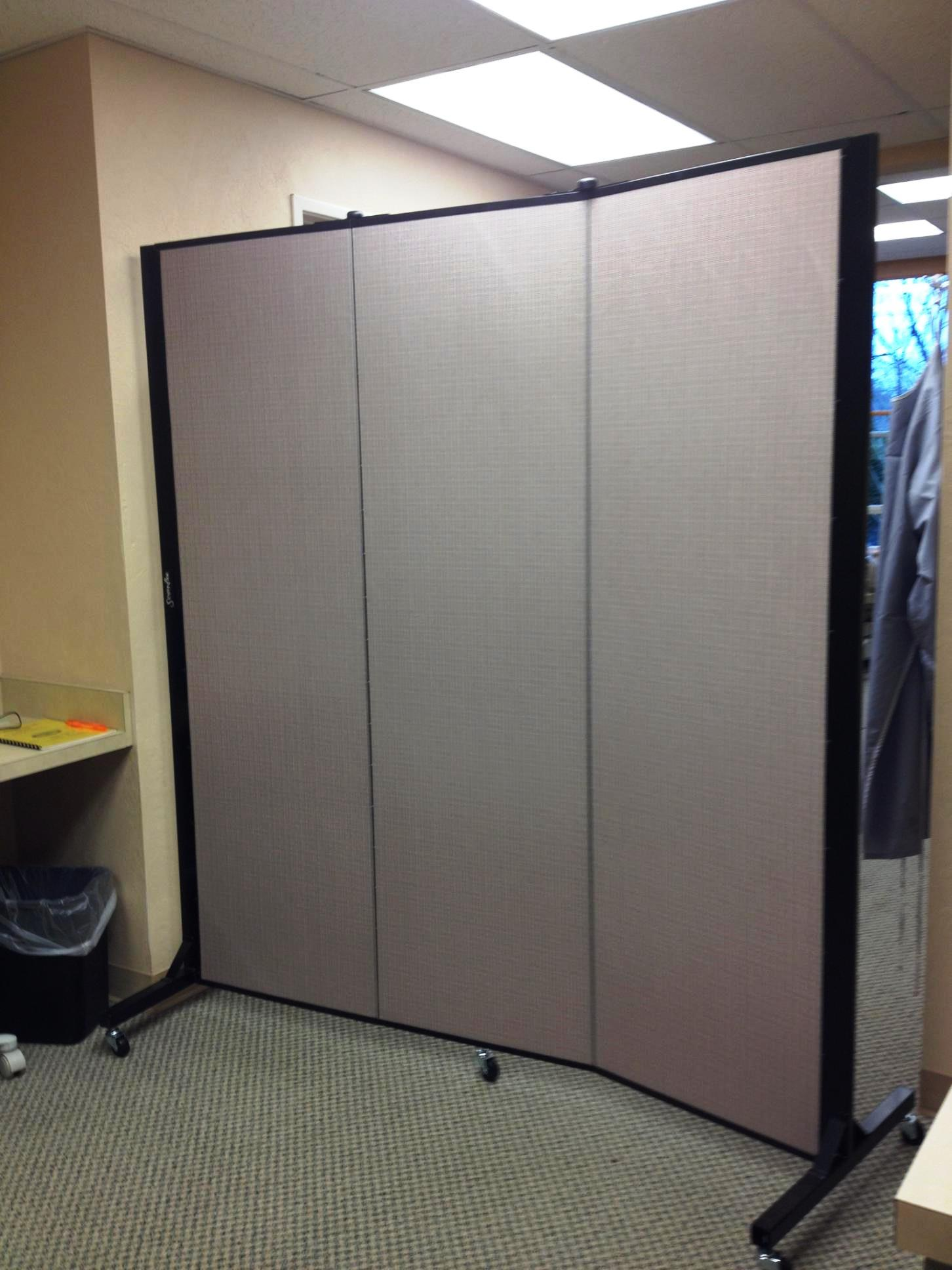 room divider creating a private dental operatory room