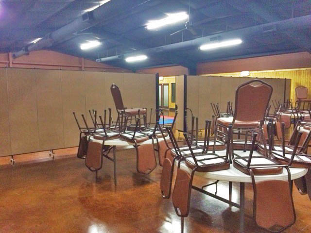 church multipurpose room setup