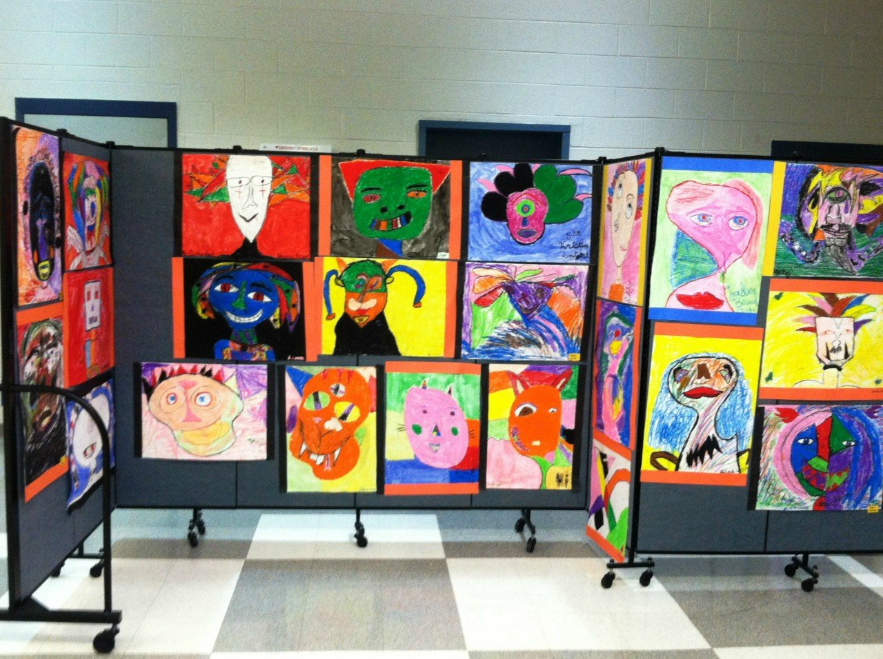 Student art show display
