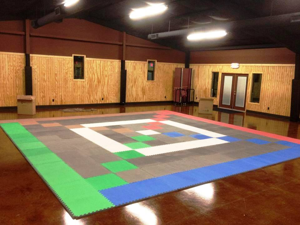 Awana area in a fellowship hall