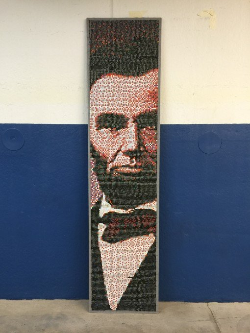 the essential Abraham Lincoln an image In thumbtacks