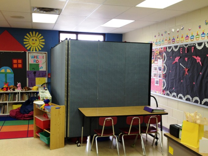 Room divider maintain privacy and security in schools