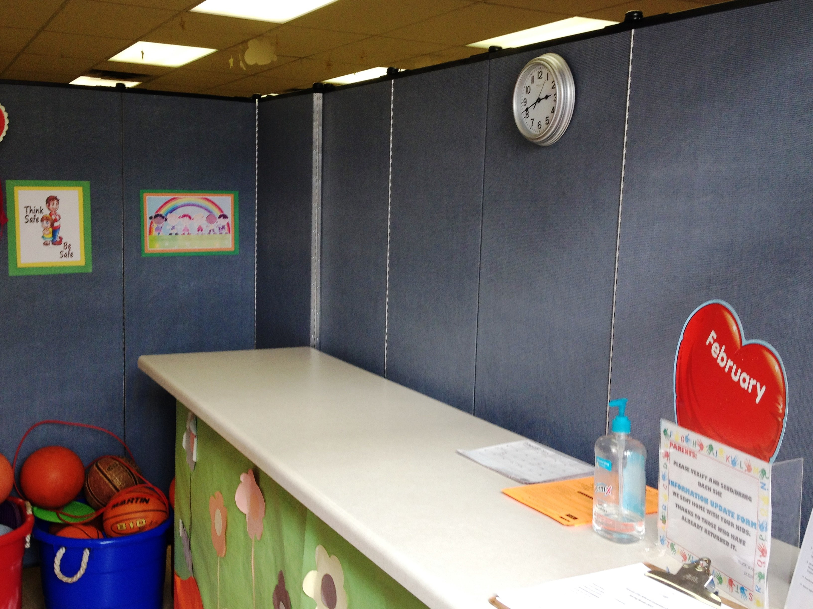 Interior of student sign out area