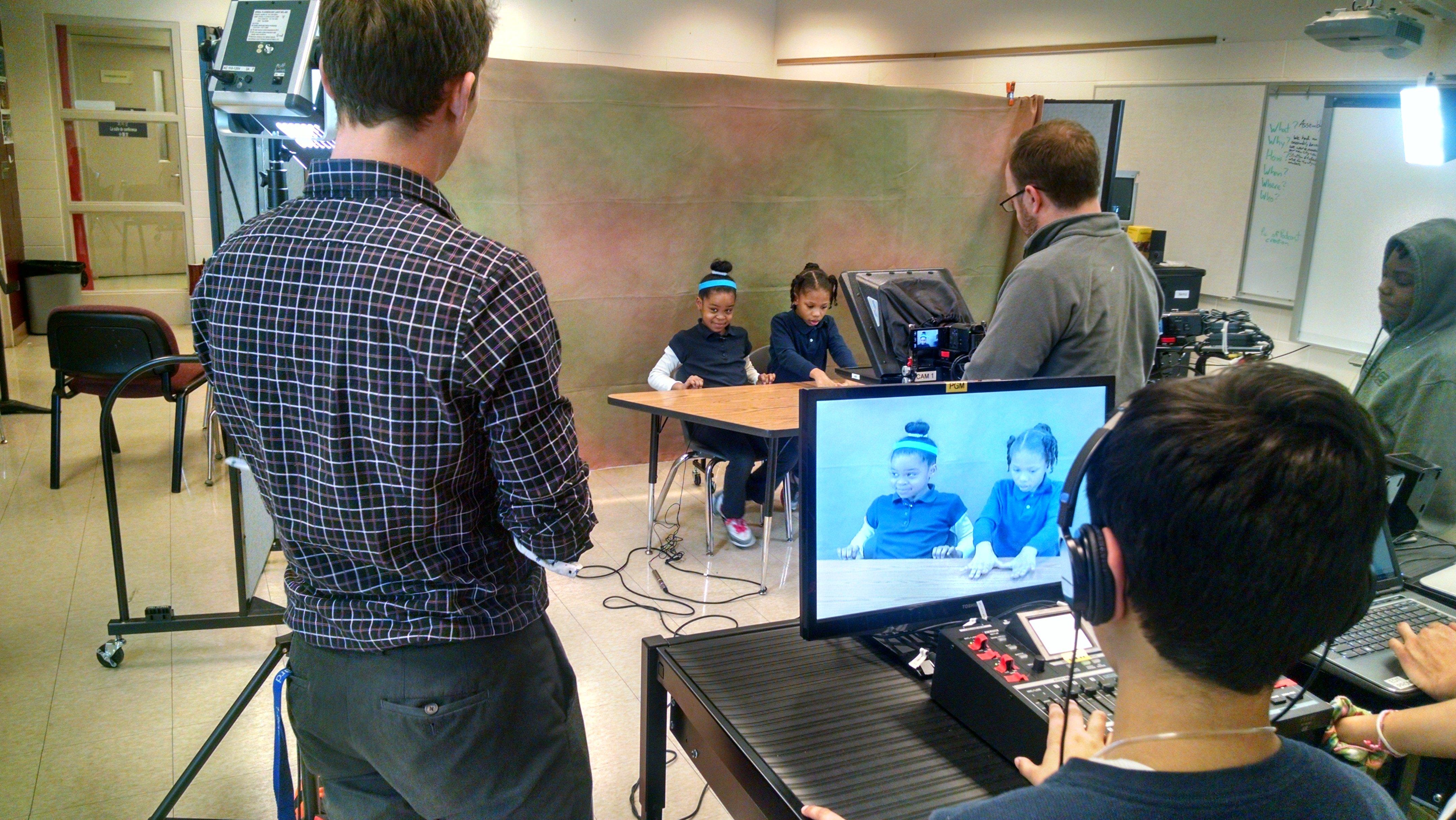 Student media center filming room