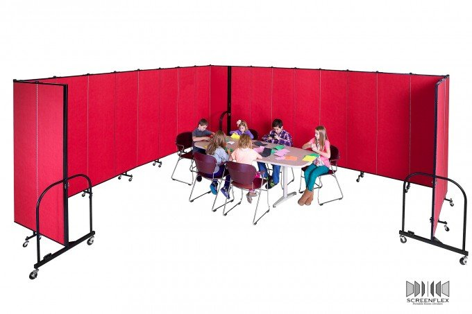 Classroom of Students surrounded by Room Dividers