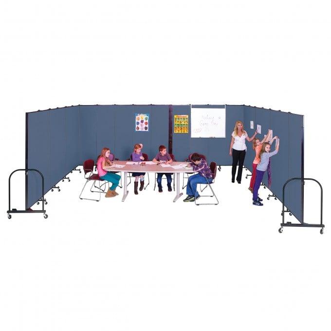 Flexible walls create a temporary classroom