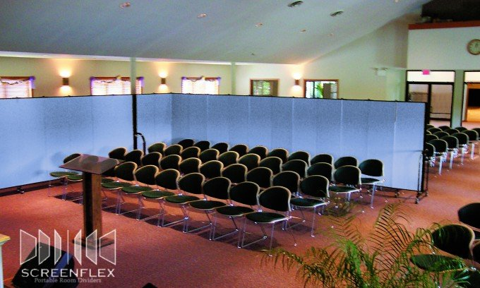Screenflex Room Dividers Create an Intimate Space Within a Religious Facility
