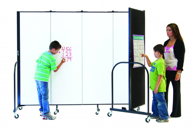 dual surface room dividers