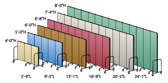 Screenflex Room Divider Lengths and Heights