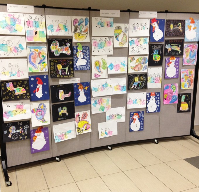 Shaddy hill elementary school art fair display