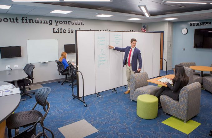 Portable Dry Erase Walls Create an Interactive Space
