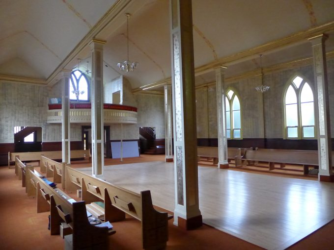 A church hall that is empty