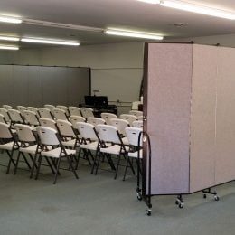 Portable walls create multiple Sunday school rooms in an instant