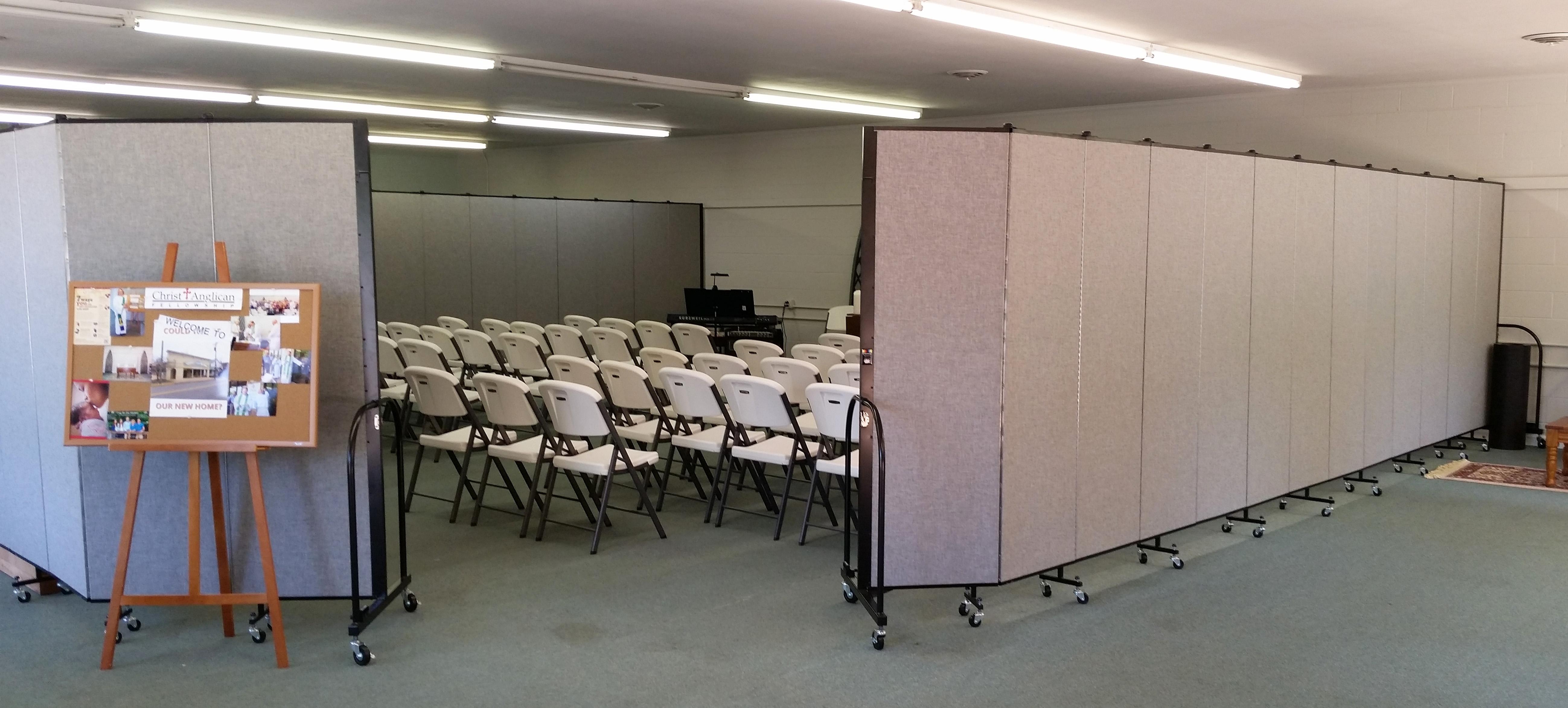 Church Growth Needs Screenflex Portable Room Dividers #3B5A90